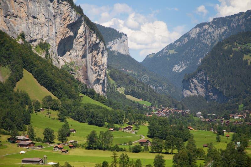 Lauterbrunnen-Tal lizenzfreies stockfoto