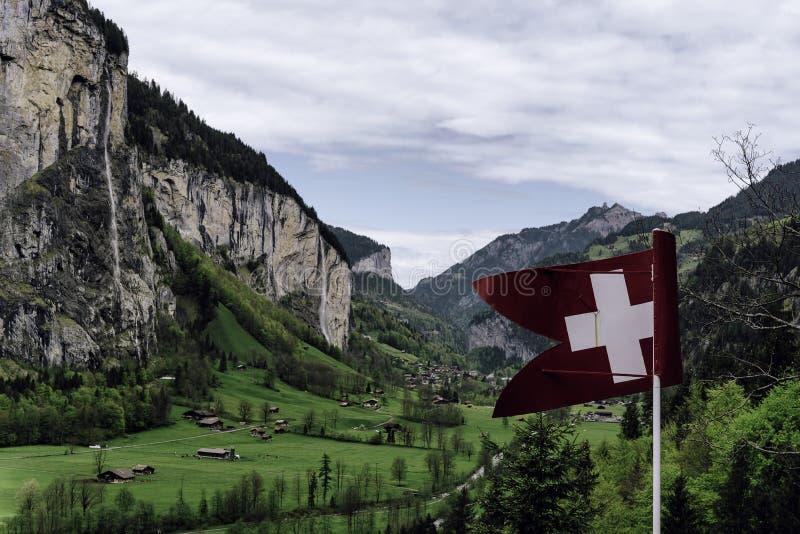 Lauterbrunnen Tal in der Schweiz stockfotografie