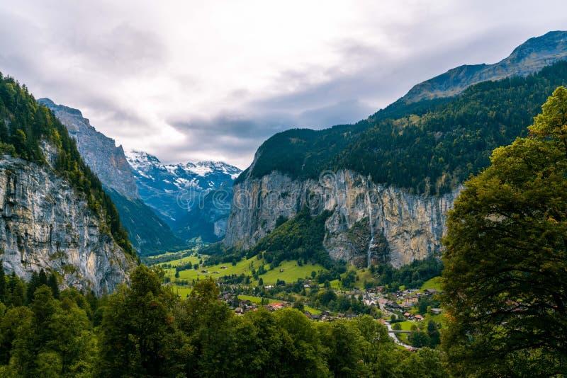 The Lauterbrunnen valley, near Interlaken in the Bernese Oberland, Switzerland. royalty free stock images