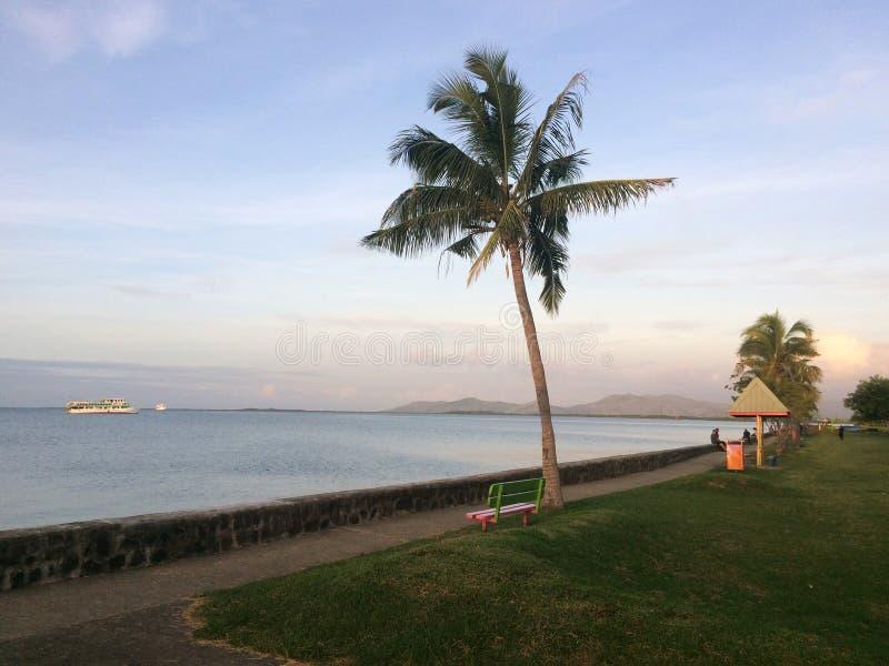 Lautoka waterfront Fiji. Lautoka waterfront, Viti Levu, Fiji. Lautoka is the second largest city and the second port of entry in Fiji, after Suva. The city royalty free stock photography