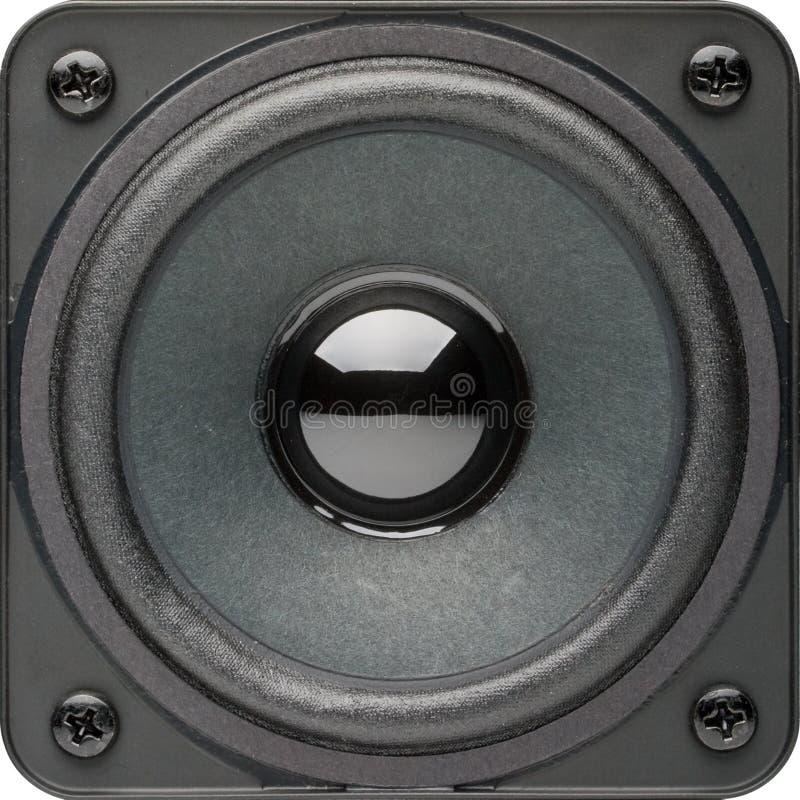 Lautsprecher auf einem Weiß stockfotografie
