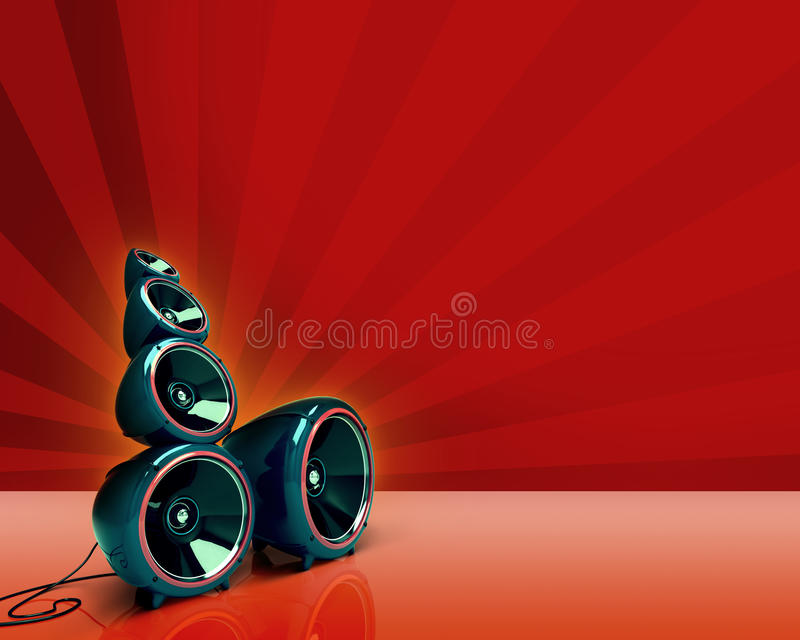 Lautsprecher auf Rot stockfotos