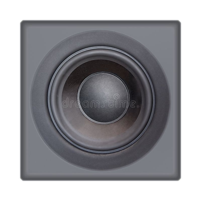 Lautsprecher auf Weiß lizenzfreie stockfotografie