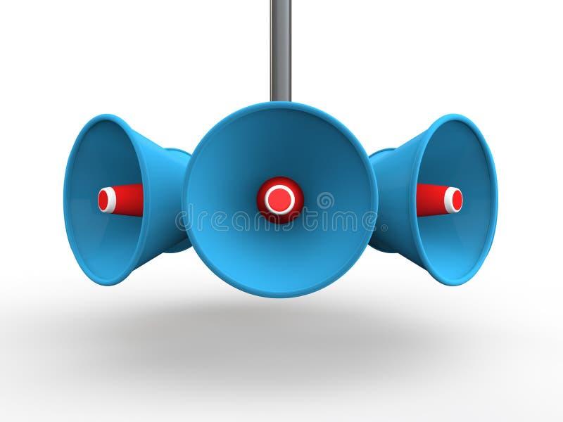 Lautsprecher 3d stock abbildung