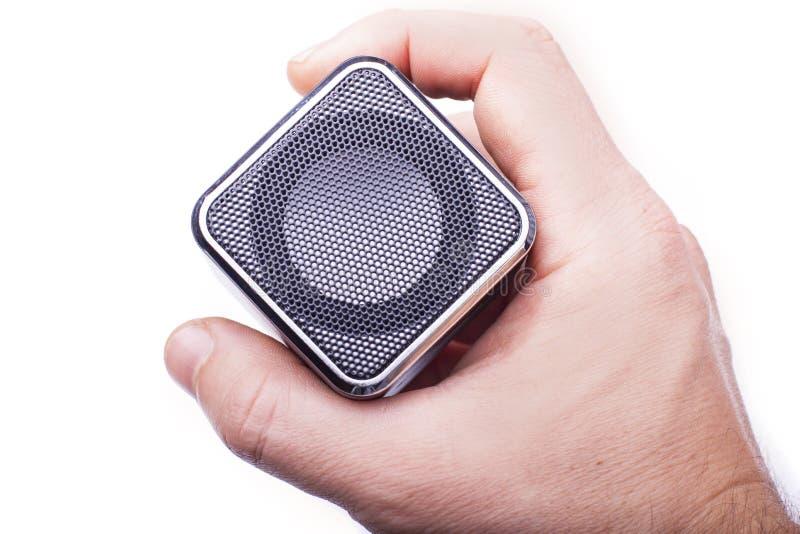 Download Lautsprecher in der Hand stockfoto. Bild von bild, spieler - 27733670