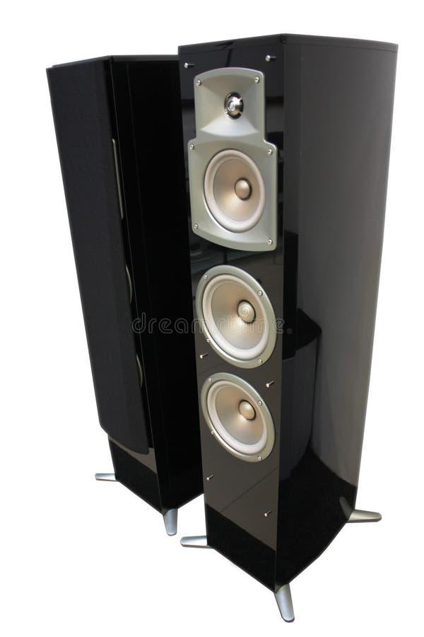 Lautsprecher getrennt auf weißem Hintergrund stockbilder