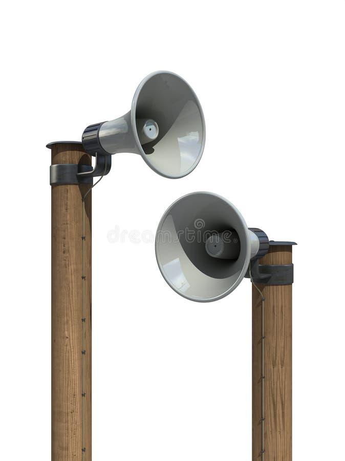 Lautsprecher/Megaphon vektor abbildung