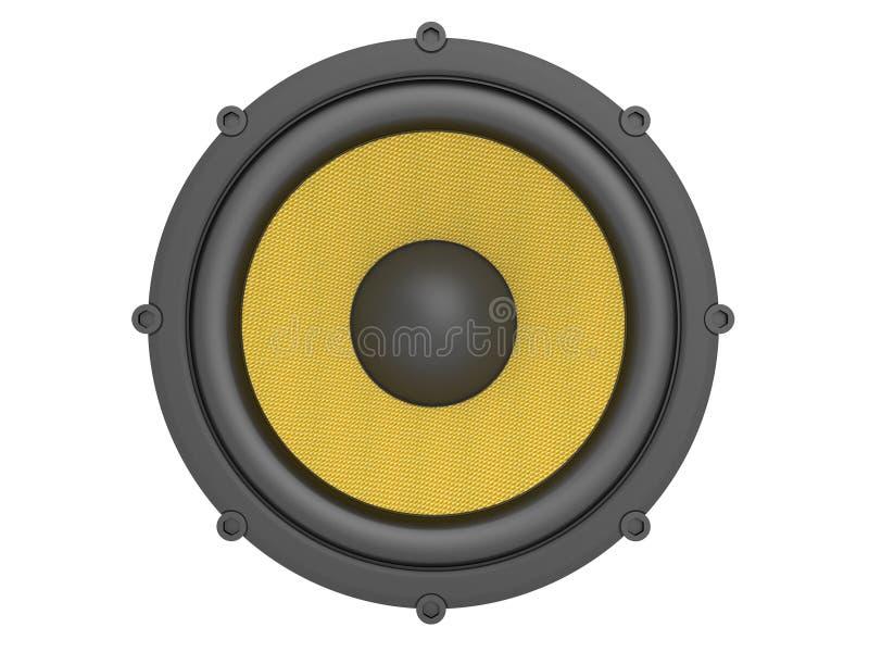 Lautsprecher mit der Kevlar-Membrane lizenzfreie abbildung