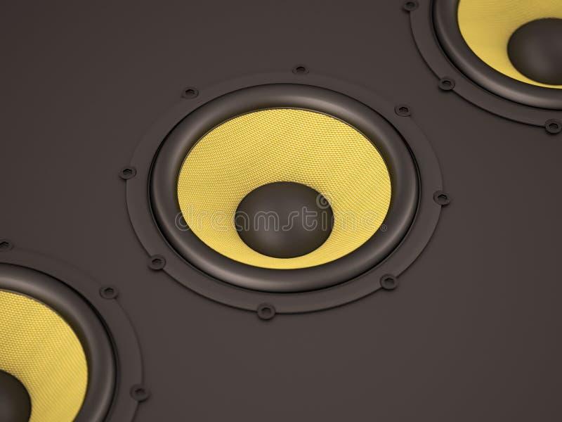 Lautsprecher mit der Kevlar-Membrane vektor abbildung