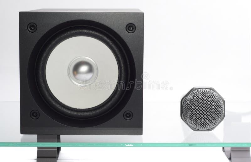 Download Lautsprecher mit Mikrofon stockfoto. Bild von ausrüstung - 12202350