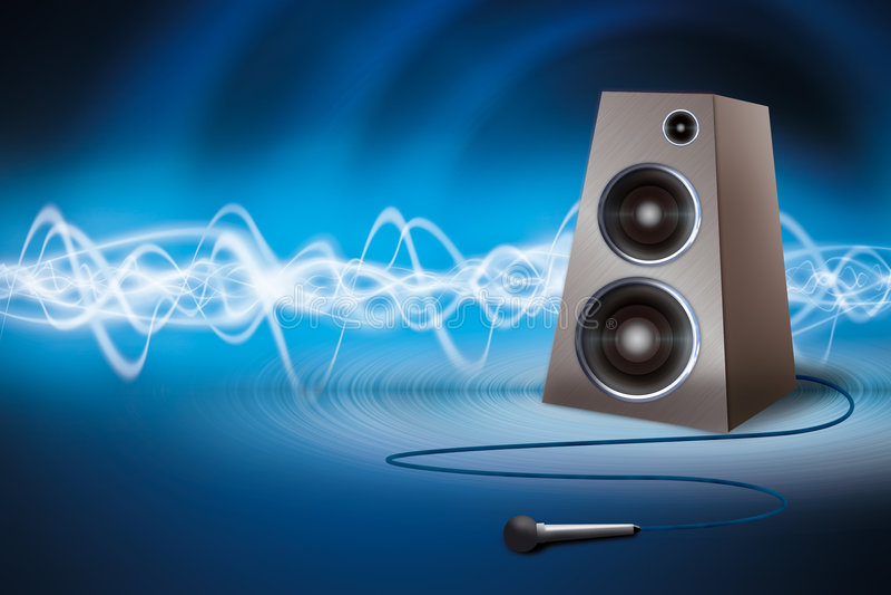 Lautsprecher und Mikrofon lizenzfreies stockfoto