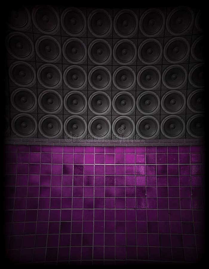 Lautsprecher-Wand lizenzfreie stockfotos