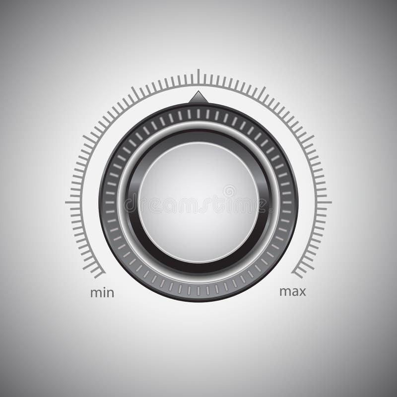 Lautstärkeregler lizenzfreie abbildung