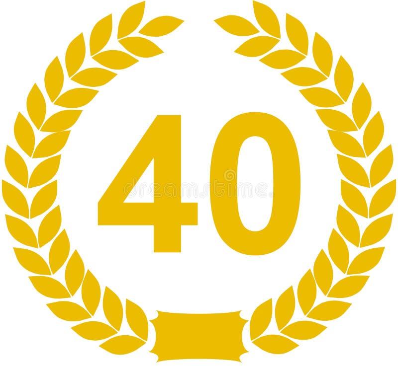 Lauwerkrans 40 Jaar vector illustratie