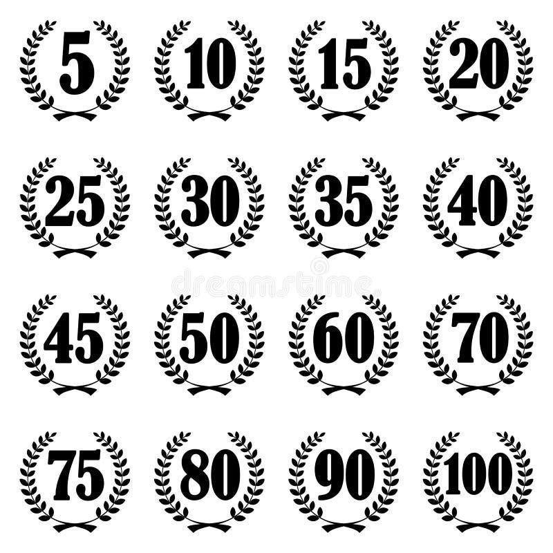 lauwerkransinzameling voor jubileum vector illustratie