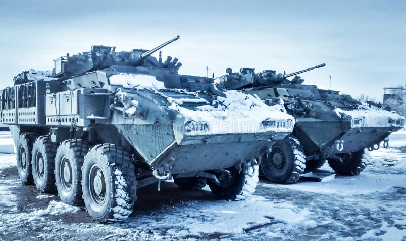 LAV 6 On Ice stock photography