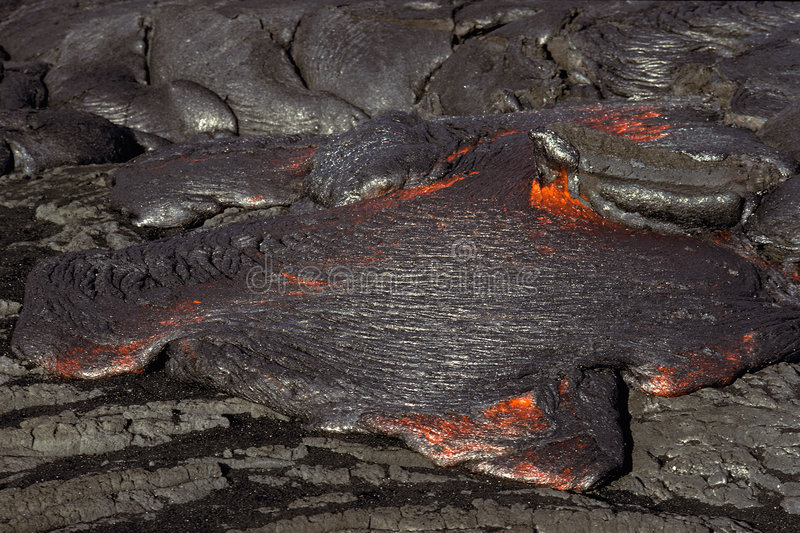 Lava. Hot lava on Big Island, Hawaii stock photos