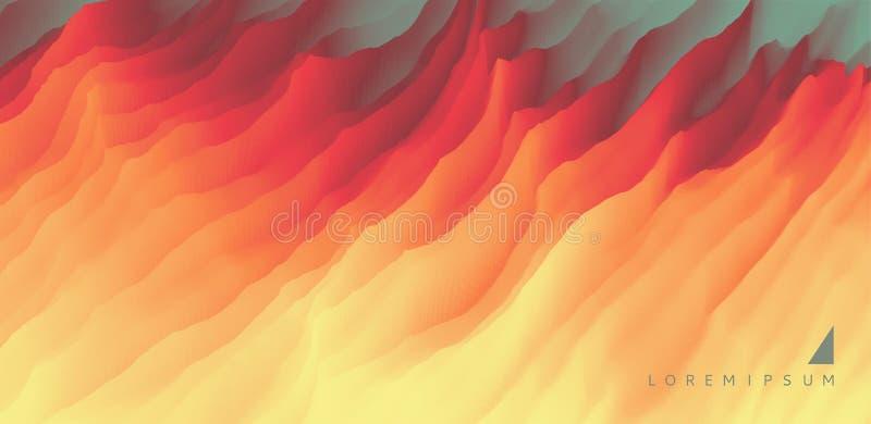 lava abstraia o fundo Teste padrão moderno Ilustração do vetor para o projeto ilustração do vetor
