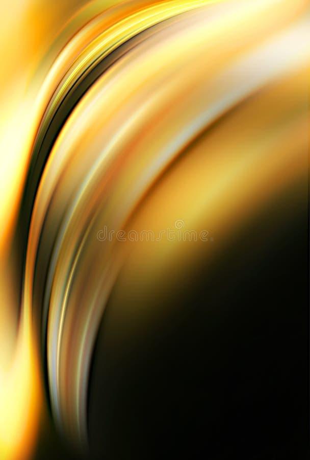 Lava amarela abstrata ilustração do vetor