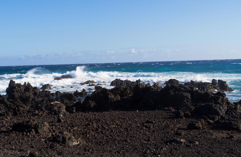 Lava Beach do ponto sul fotos de stock royalty free