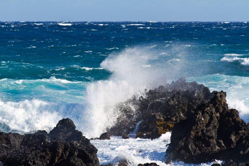 Lava Beach na ilha grande fotos de stock