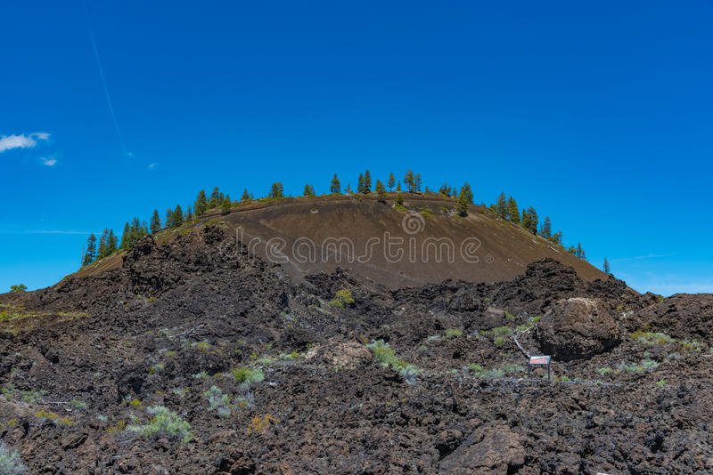 Lava Butte near Bend, Oregon. Lava Butte in Newberry National Volcanic Monument royalty free stock photo