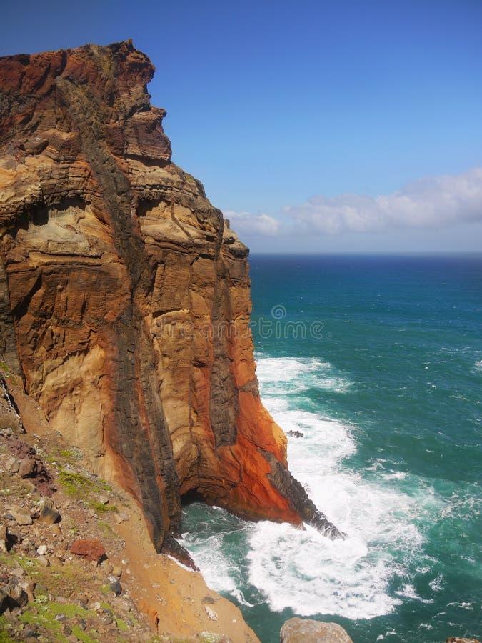 Lava Cliffs,Ponta de Sao Lourenco, Madeira Island, Portugal royalty free stock photo