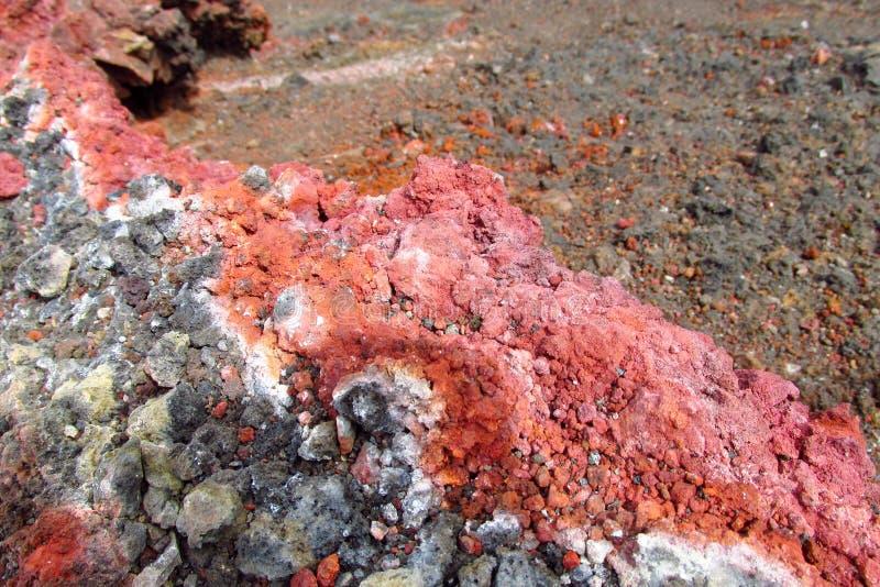 Lava congelata rossa vulcanica immagini stock