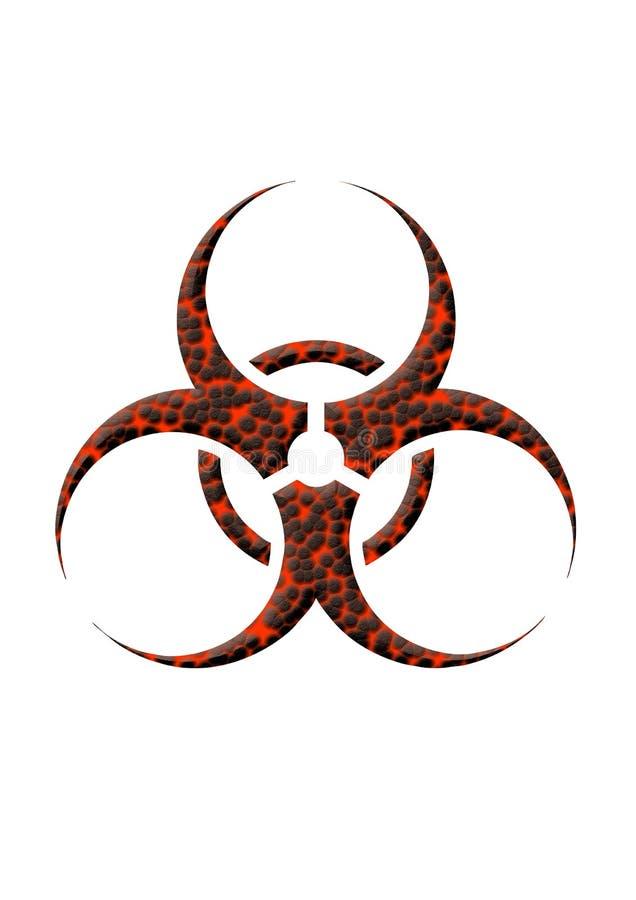 Lava de Biohazard ilustração stock