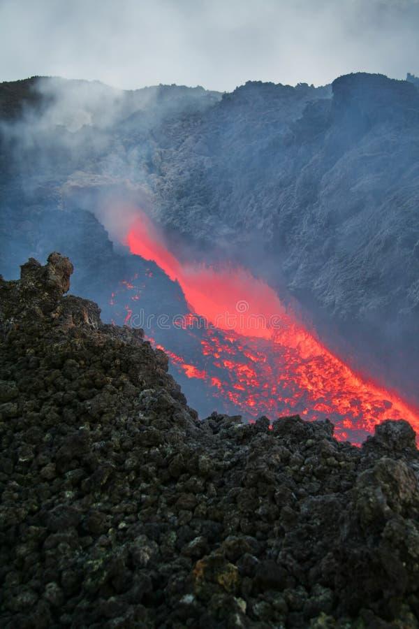 Lava di Vulcan immagine stock