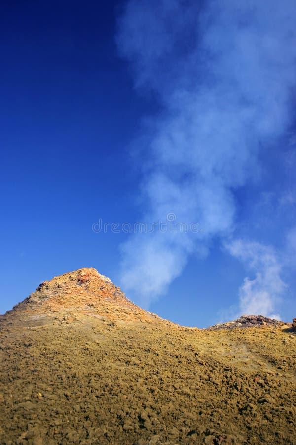 Lava e vapori fotografia stock