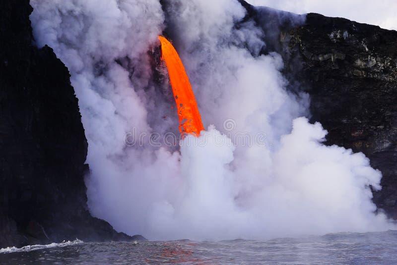 Lava en Hawaii foto de archivo