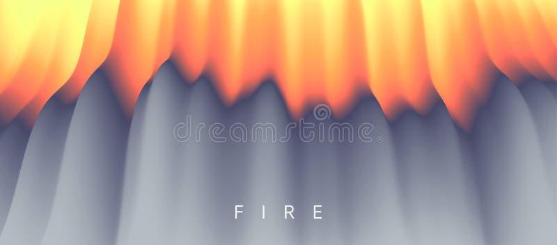 lava entziehen Sie Hintergrund Modernes Muster Vektorabbildung für Auslegung stock abbildung