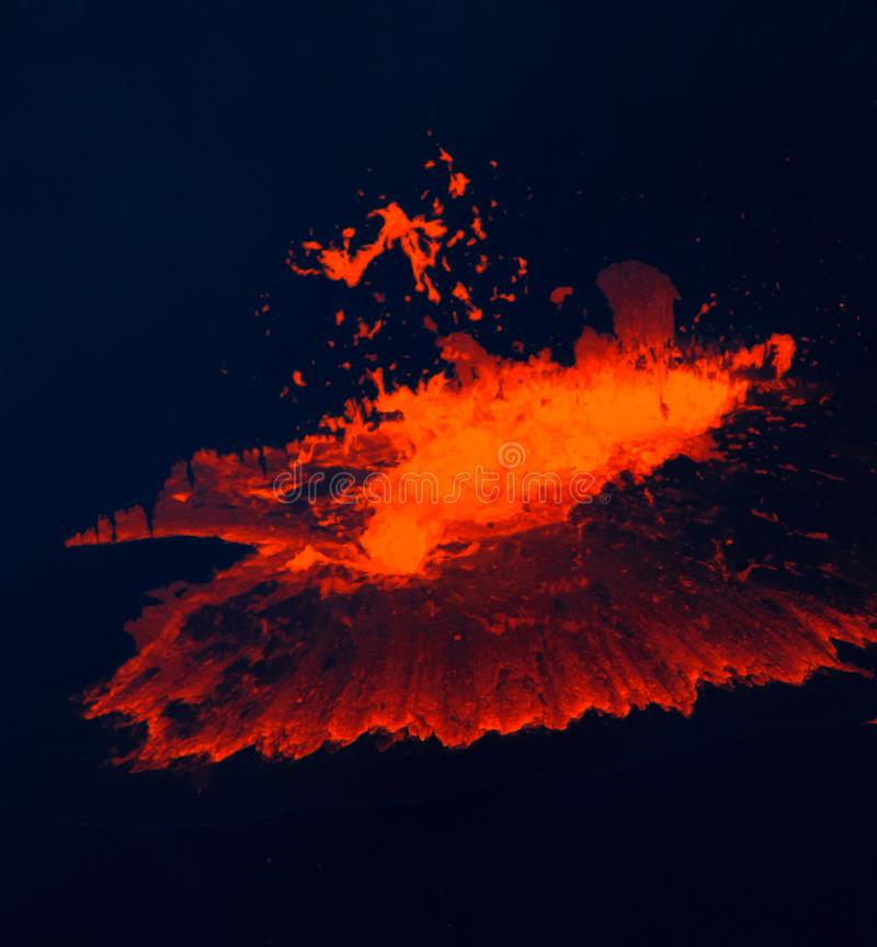 Lava erupts from Kilauea volcano. stock image