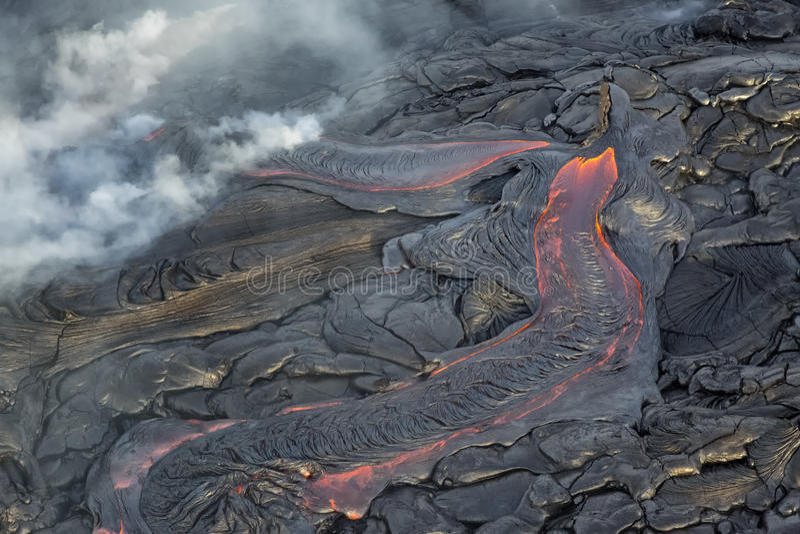 Lava Field. Lava flow, Volcanos National Park, Hawaii Lava flow from Hawaii`s Kilauea Volcano, Volcanoes National Park, Hawaii stock photos