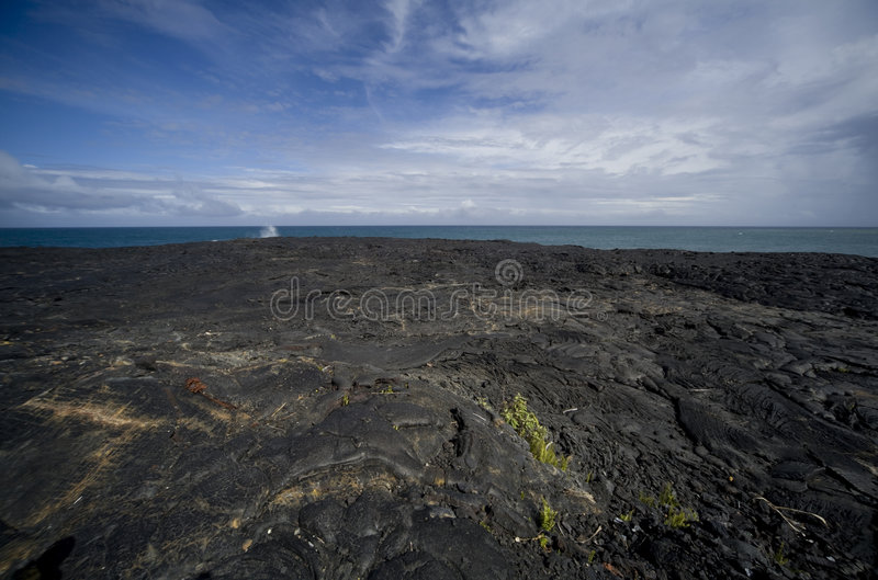 Download Lava Field At Ocean Royalty Free Stock Images - Image: 7027609