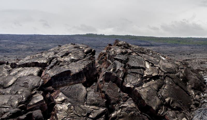 Lava Field sur la grande île d'Hawaï photos stock
