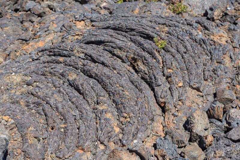 Lava Flow bij de Kraters van de het Vuurwerkvertoning van het Maan Nationale Monument ay royalty-vrije stock afbeeldingen