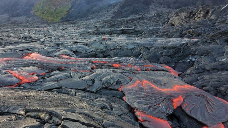 Lava Flow de volcan hawaïen image stock