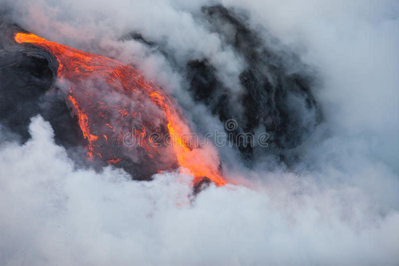 Lava flow royalty free stock photo