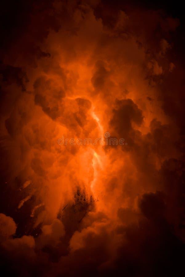 Lava flow in Hawaii stock photo
