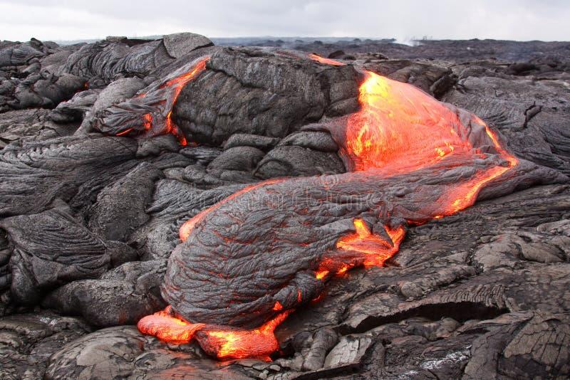 Lava flow. In Hawaii (Kilauea volcano stock photo