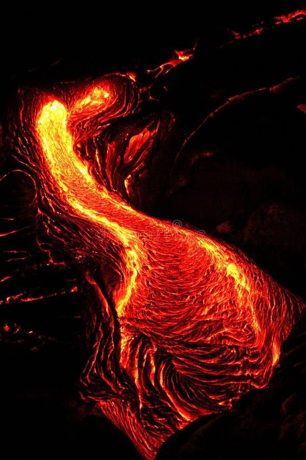 Lava Flow na ilha grande de Havaí fotos de stock