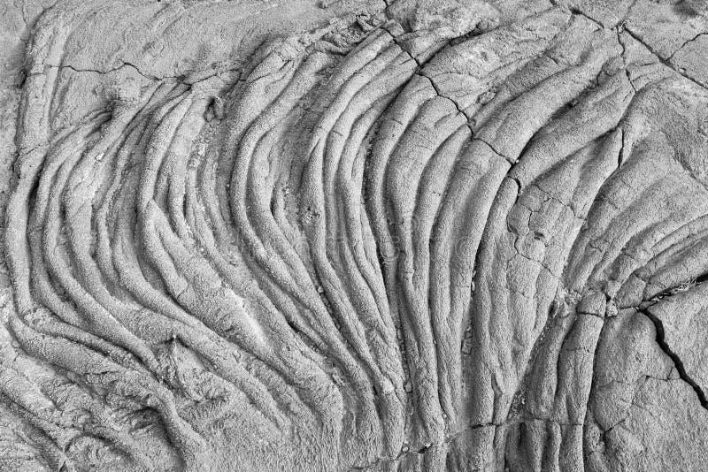 Lava flow. Pahoehoe type, in La Restinga, El Hierro, Canary Islands, Spain stock photo