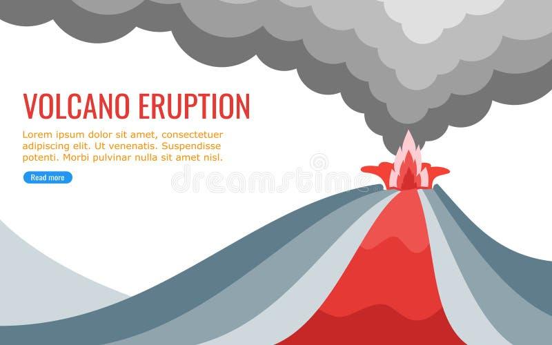 Lava Flowing From um vulcão ativo ilustração royalty free
