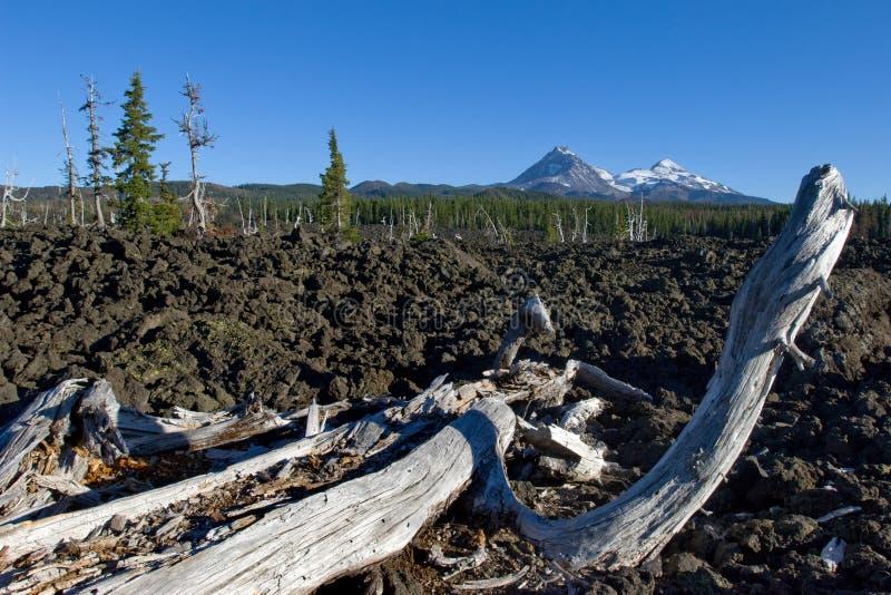Lava flows stock photos