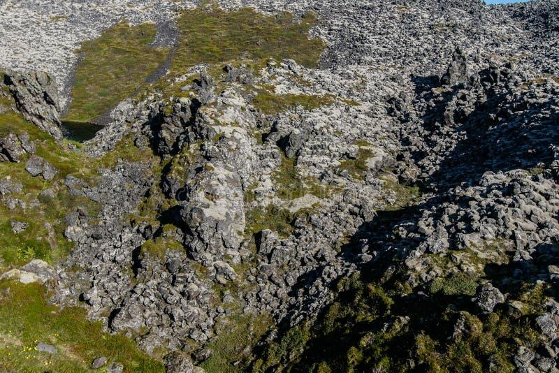 Lava formation. In Snaefellsjoekull National Park royalty free stock images