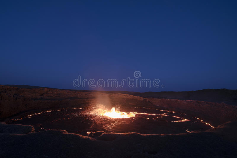 Lava fountain stock photography