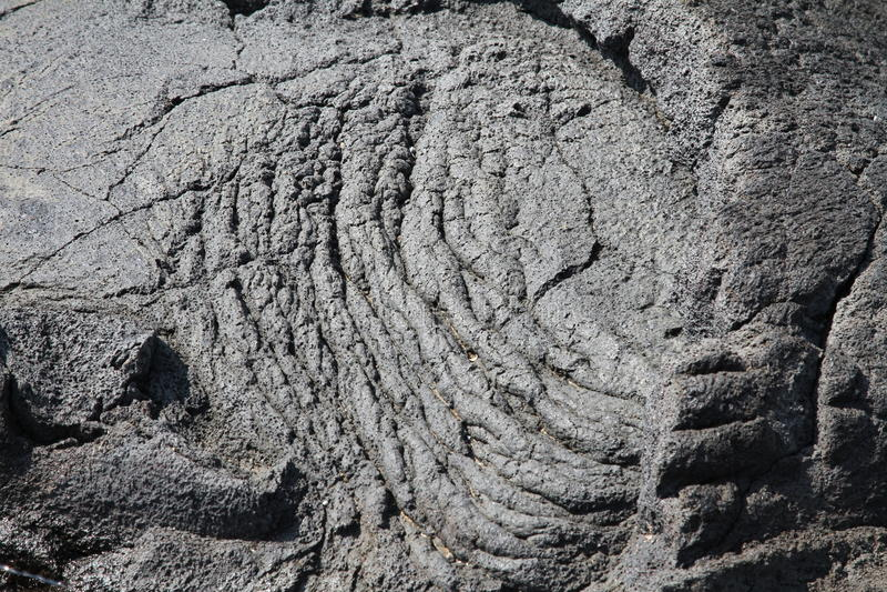 Lava havaiana imagem de stock