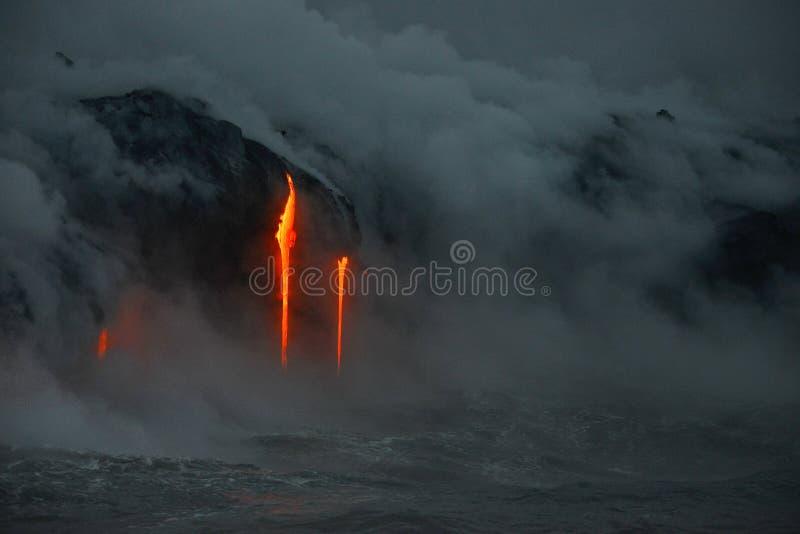 Lava in Hawai fotografie stock